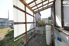 屋根付きの自転車置き場。(2016-03-01,共用部,GARAGE,1F)