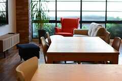 ダイニングテーブルの様子。(2015-12-09,共用部,LIVINGROOM,1F)