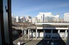 窓から見た外の景色。新幹線が見えます。(507号室)(2015-12-09,専有部,ROOM,5F)