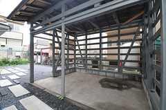 自転車置き場の様子。(2014-06-09,共用部,GARAGE,1F)