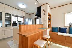 カウンターテーブルの様子。裏手がキッチンです。(2020-02-10,共用部,LIVINGROOM,1F)