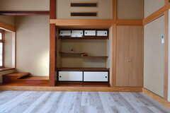 美しいデザインの違い棚。(102号室)(2019-11-29,専有部,ROOM,1F)