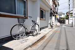 自転車置き場の様子。(2011-10-06,共用部,GARAGE,1F)