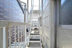 外階段の様子。(2021-07-19,共用部,OTHER,3F)