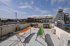 屋上の様子。ハンモック付き。(2012-10-10,共用部,ENVIRONMENT,4F)