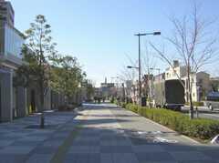 東武伊勢崎線西新井駅からシェアハウスへ向かう道の様子。(2008-02-15,共用部,ENVIRONMENT,1F)