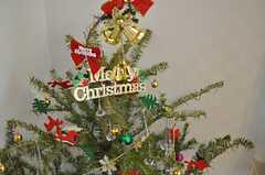 リビングにはクリスマスツリーが飾られていました。(2012-12-21,共用部,LIVINGROOM,1F)