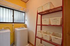 洗濯用洗剤を置いておけるボックス。(2016-08-23,共用部,BATH,1F)