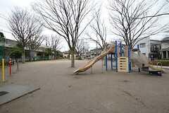シェアハウス真裏の梅島西公園の様子。(2016-02-16,共用部,ENVIRONMENT,1F)