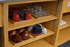 食器棚の様子。(2020-03-06,共用部,KITCHEN,1F)