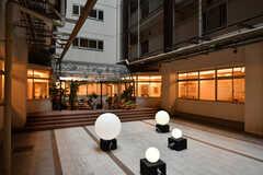 廊下から見た中庭の様子。(2020-03-06,共用部,OTHER,1F)