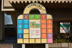団地内には、スーパーや郵便局、店舗などが点在しています。(2020-03-06,共用部,ENVIRONMENT,1F)