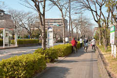 団地の目の前にはバス停があります。(2020-03-06,共用部,ENVIRONMENT,1F)