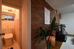ウォシュレット付きトイレの様子。(2017-02-20,共用部,TOILET,1F)