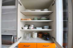 食器棚の様子。(2012-05-14,共用部,KITCHEN,1F)