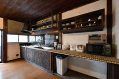 キッチンの様子。(2017-05-18,共用部,KITCHEN,2F)