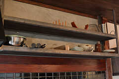 収納棚の様子。(2017-05-18,共用部,KITCHEN,2F)
