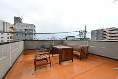 屋上の様子。シェードが設置される予定です。(2017-05-18,共用部,OTHER,4F)