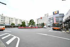東武スカイツリーライン・竹ノ塚駅前の様子。(2017-05-18,共用部,ENVIRONMENT,1F)