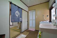 脱衣室の様子。(2014-08-19,共用部,BATH,1F)