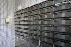 ポストは部屋ごとに用意されています。(2011-08-30,周辺環境,ENTRANCE,1F)