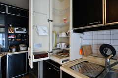 食器乾燥機の様子。珍しい形状です。(2017-06-27,共用部,KITCHEN,3F)