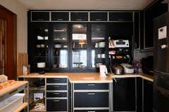 食器棚の様子。(2017-06-27,共用部,KITCHEN,3F)