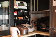 キッチン家電の様子。スチームオーブンレンジが使えます。(2017-06-27,共用部,KITCHEN,3F)