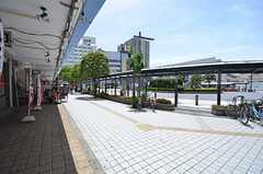 東武伊勢崎線・竹ノ塚駅前の様子。(2015-07-13,共用部,ENVIRONMENT,1F)