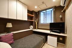 専有部には全室にTVが設置されています。※モデルルームです(113号室)(2019-03-17,専有部,ROOM,1F)