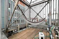 屋上にはハンモックが設置されています。(2019-03-17,共用部,OTHER,4F)