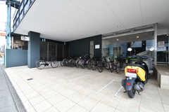 駐輪場の様子。(2019-03-17,共用部,GARAGE,1F)