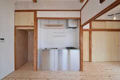 キッチンの様子。(202号室)(2015-06-02,専有部,ROOM,2F)