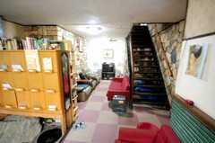 シェアハウスのラウンジ。(2008-05-15,共用部,LIVINGROOM,1F)