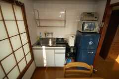 専有部の様子。キッチン周りの様子。(204号室)(2008-05-15,専有部,ROOM,2F)