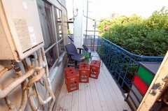 ベランダの様子。(2008-05-15,共用部,OTHER,3F)