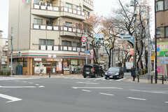 斜向いには桜並木の商店街があります。(2017-11-28,共用部,ENVIRONMENT,1F)