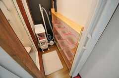 脱衣室の様子。(2012-10-16,共用部,BATH,2F)