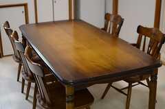 ダイニングテーブルの様子。(2014-04-28,共用部,LIVINGROOM,1F)