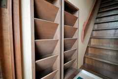 靴箱の様子。(2010-03-23,共用部,OTHER,1F)