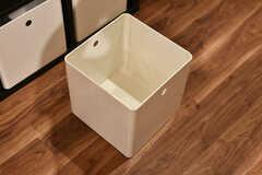 ボックスはこんな感じ。ひとり3ボックスずつ、用意がされています。(2019-08-30,共用部,LIVINGROOM,1F)