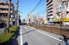 各線町屋駅からシェアハウスへ向かう道の様子。(2009-03-02,共用部,ENVIRONMENT,1F)