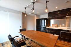 ダイニングテーブルの様子。(2017-07-10,共用部,LIVINGROOM,6F)
