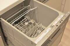 食器洗浄機の様子。(2013-12-10,共用部,KITCHEN,3F)