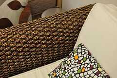 一人がけのソファがあります。(101号室)(2012-04-27,専有部,ROOM,1F)