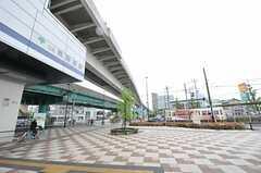 日暮里・舎人ライナー、熊野前駅前の様子。(2012-04-27,共用部,ENVIRONMENT,1F)