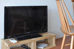 共用TVの様子。(2012-09-18,共用部,TV,5F)