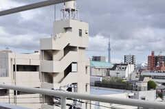 窓からの眺めは、スカイツリーのビュースポットです。(2012-09-18,専有部,ROOM,5F)