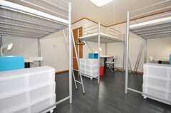 ドミトリーの様子2。(202号室)(2009-10-05,専有部,ROOM,2F)