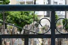 窓を開けるとお墓ビュー。建物がないので開放感があります。(203号室)(2011-08-23,専有部,ROOM,2F)